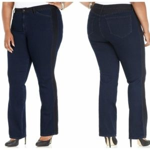 NYDJ Jeans Meryl Tuxedo Straight Leg Lift Tuck